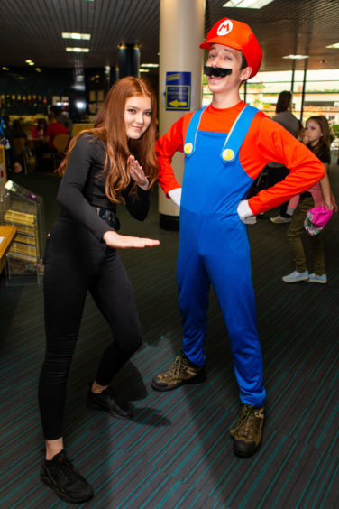 iz Dagless and Josh Fraser as Black Widow and Mario (both Glenrothes)
