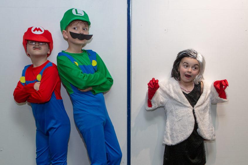 Thomas (8), Daniel (9) Amelia Law (5) as Mario, Luigi and Cruella De Ville