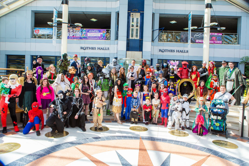 All Comic Con characters in Glenrothes