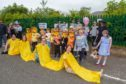 Kinghorn Gala Day - fancy dress winners the Beavers, Cubs and Scouts.