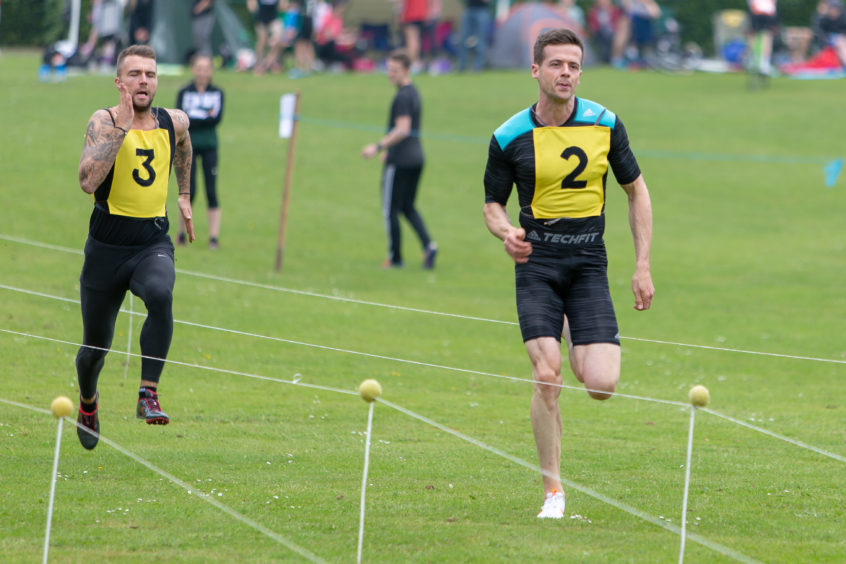 The sprint race at Markinch Highland Games