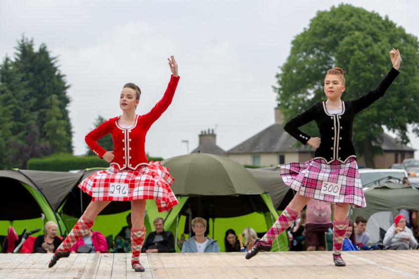 Highland Dancers perform for the judges at Markinch Highland Games