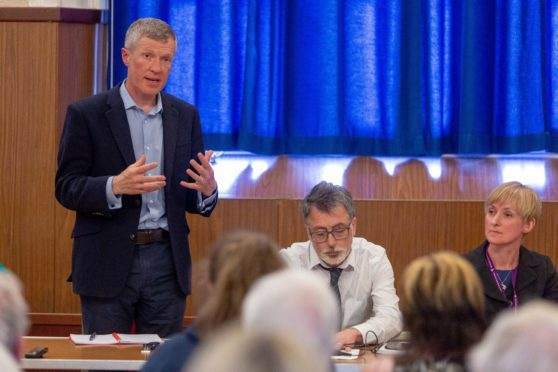 Willie Rennie seen here during a discussion on out of hours services recently.