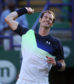 Great Britain's Andy Murray celebrates beating Switzerland's Stan Wawrinka during day two of the Nature Valley International at Devonshire Park, Eastbourne