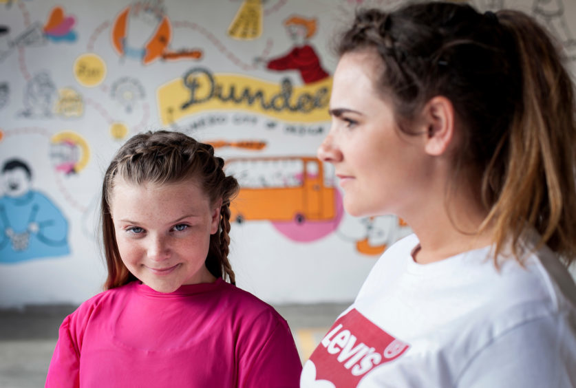 Summer Campbell (12) and her aunt Brogan Murray (23) of Dundee.