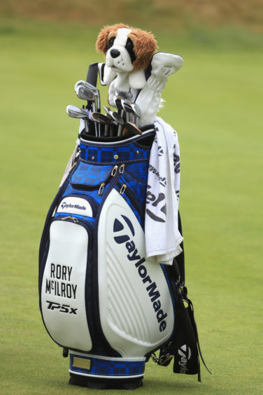 The golf bag of Rory McIlroy.
