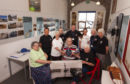 Members of the hub in the lifeboat house.