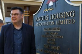 Bruce Forbes, director Angus Housing Association, at their offices in Ormiston Crescent in Dundee.