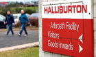 The entrance to the Halliburton site in Arbroath. Picture: Kris Miller.