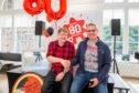 John Anderson, Beano editor, and Ian Atkinson – Beano mega fan from Newbury, Berkshire.