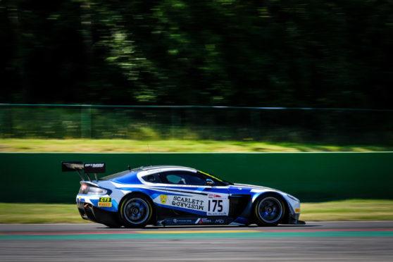 The #75 Optimum Motorsport Aston Martin Vantage GT3