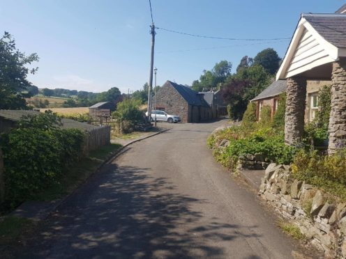The windy road in Abernyte.
