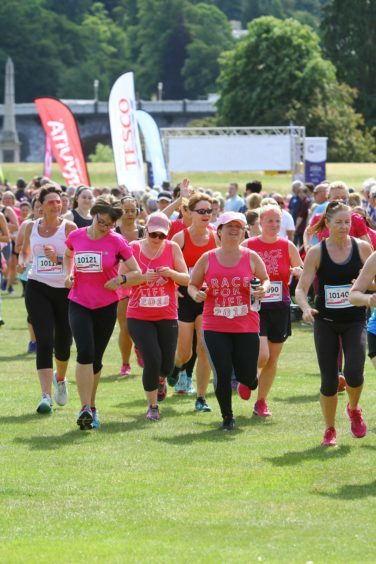 The Race for Life at North Inch.