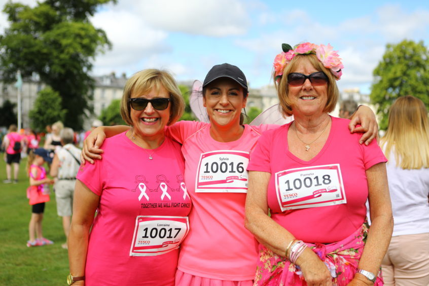 The 'Pink Fairies' Lorraine Ross, Lee Ross and Pam Ross.
