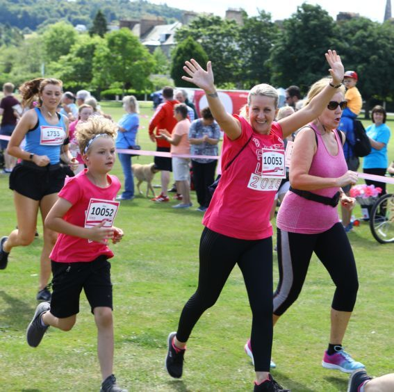 Participants get the Race for Life under way.