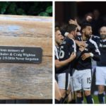 Plaque glued to city centre bench celebrating 'Doon Derby' removed by council