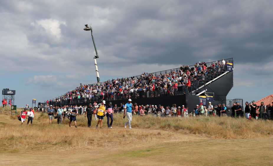 USA's Tiger Woods on the 6th during day one of The Open.