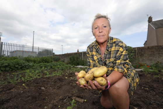 Laura Tierney of the Carnoustie Community Garden in Brown Street.