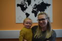 Hannah Manville and her son Freddie, who will pick up her degree from Abertay on Thursday.