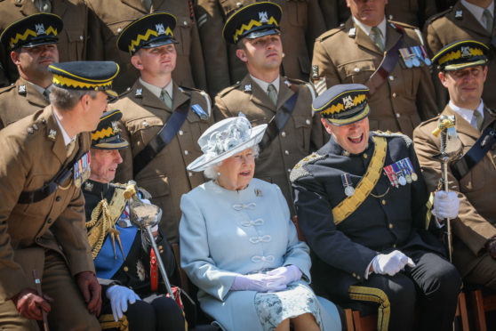 The Queen visiting Leuchars Station earlier this week.