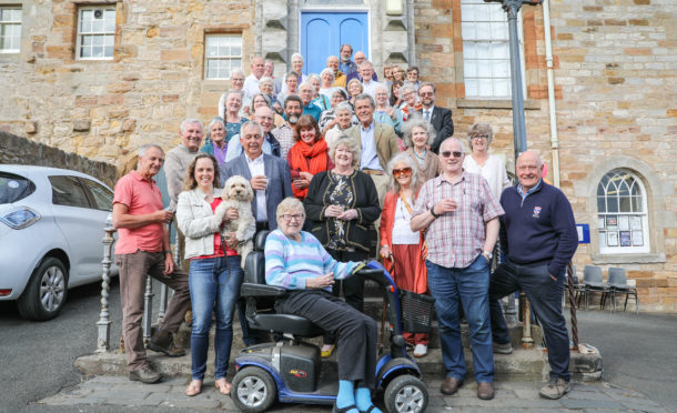 The group celebrate the librarys first birthday