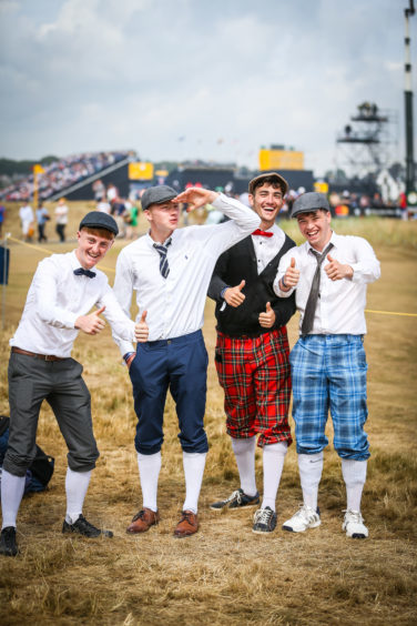 Stylish golf fans from Gallway, Ireland at the Open.