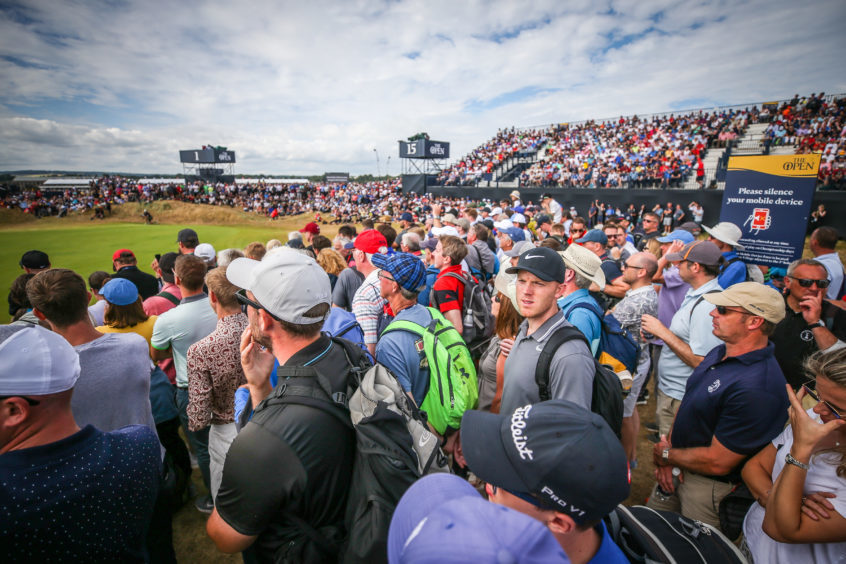 Crowds at the 2018 Open at Carnoustie.