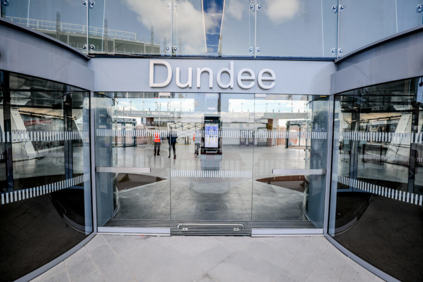 Dundee railway station.