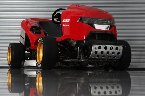 Honda's cutting edge machine going for lawnmower speed