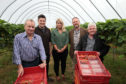 Peter Marshall Farm partner Jen Telfer (centre) with MPs (from left) Pete Wishart, Jed Killen, David Duguid  and Hugh Gaffney.