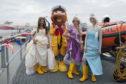 Jessica Pass, RNLI Mascot Stormy Stan, Sarah Lorimer and Kirsty Denoon.