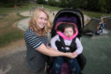 Claire Wilkie with Maisie Wilkie at the play park on the North Inch.
