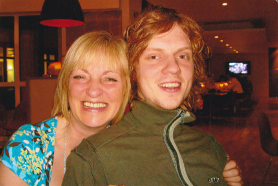 Sandra Ramsay and her late son, Ross