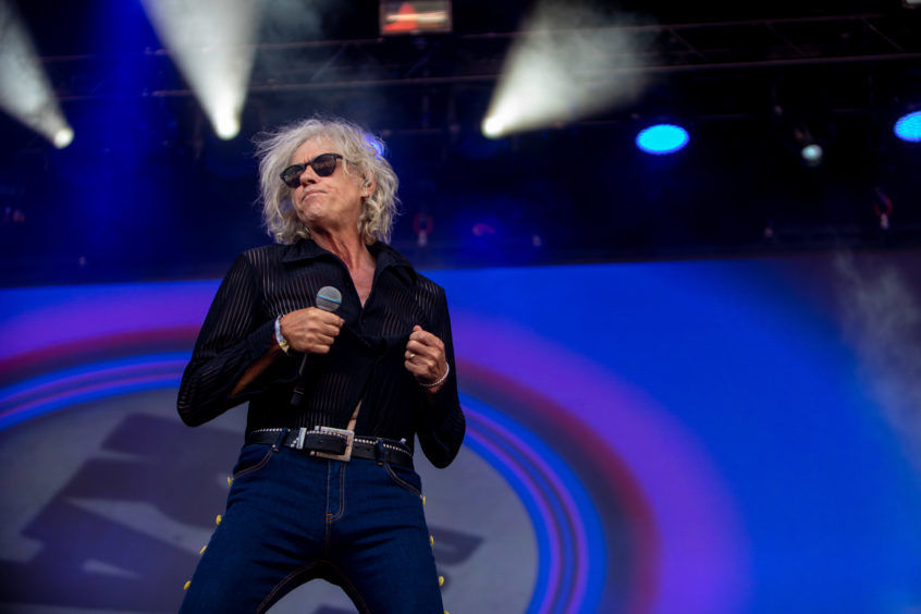 Bob Geldof of Boomtown Rats performs at Rewind Festival.