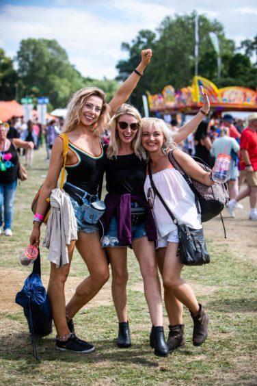 Kirkcaldy girls Liza Cumming, Pamela Tosh and Zara Anderson at Rewind.