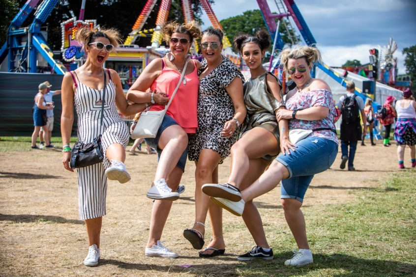 Sara, Donna, Tracey, Sophia and Eileen from Aberdeen.