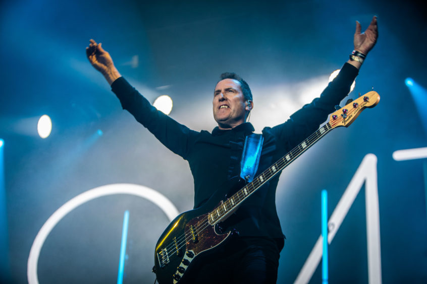 OMD (Andy McCluskey) performing at Rewind.