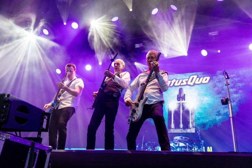 Statue Quo, Francis Rossi performs to close Rewind Festival.