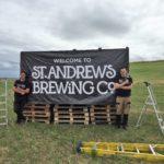 Three billboards outside Guardbridge, St Andrews, to help fund Caird Hall arcade pub