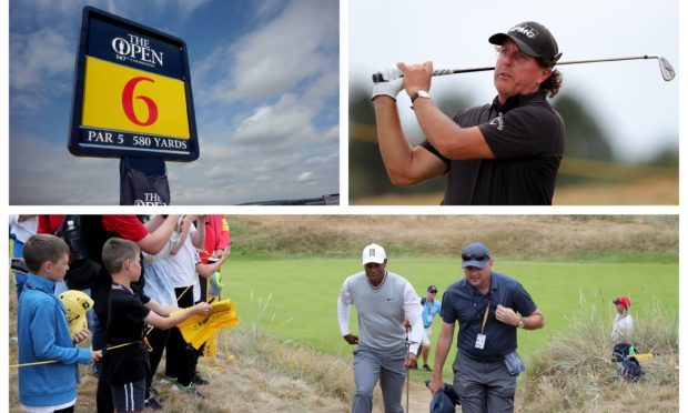 Tiger Woods gets a feel for bone-dry Carnoustie