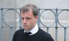 Paul McGowan arriving late at Dundee Sheriff Court on Monday morning