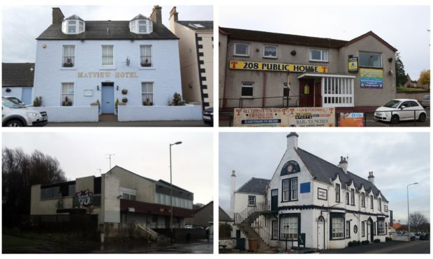 Courier country pub closures include: The Mayview Hotel in St Monans, the 208 pub in Perth, the Jimmy Shand pub in Dundee and the Earl David Hotel in Coaltown of Wemyss.