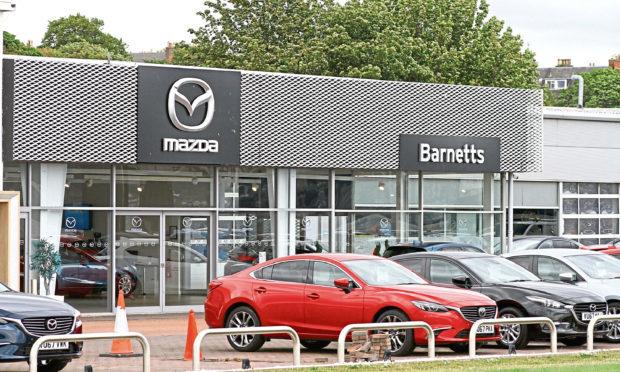 The Barnetts Motor Group site at Riverside, Dundee.