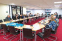 Executive Comittee Meeting takes place in Fife House led by David Ross