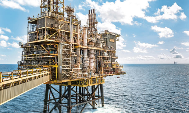 Shells Shearwater platform is where the group marked the 50th anniversary of operations in the North Sea.
