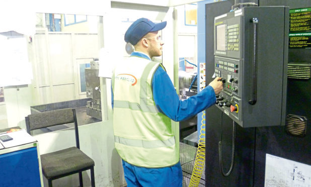 A FTV Proclad International technician at work.