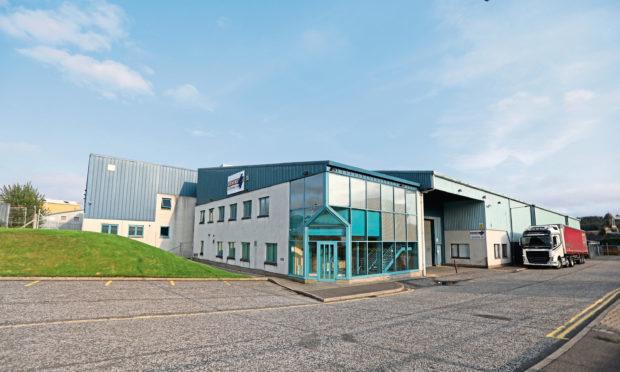 Blind manufacturer Stevens (Scotland) Limited's base at Denburn Way, Brechin.