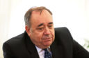 Alex Salmond during a press conference regarding the sexual harassment allegations made against him, which he denies.