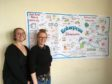 From left: Rachelle Coltier and Lori Hughes in the Dundee Amina office.