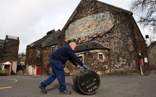 Blair Athol whisky distillery.